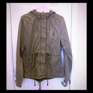 H&M Olive green Military Army Style jacket size 8